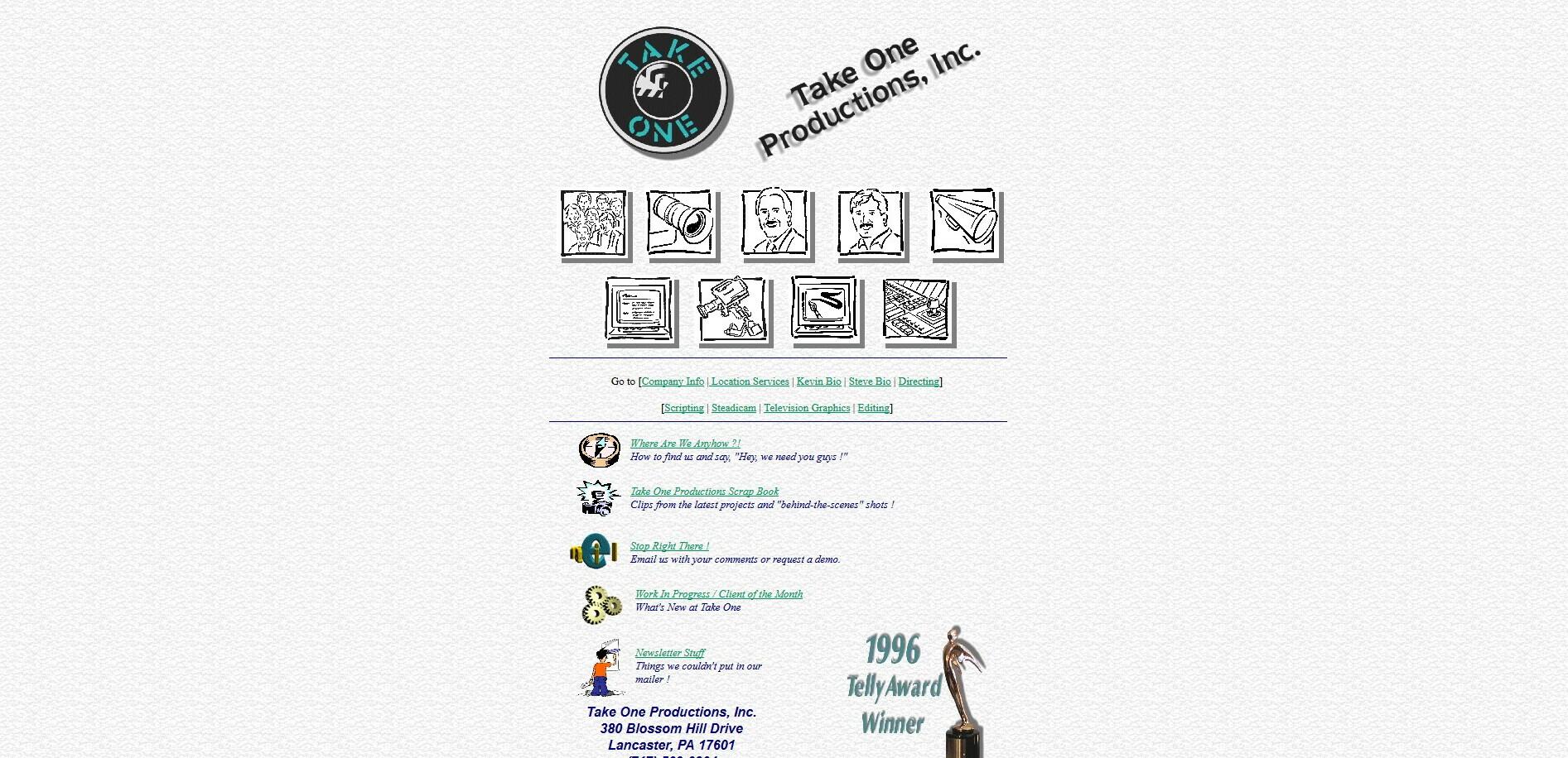 Take One Website 1996
