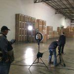 LED lighting in warehouse