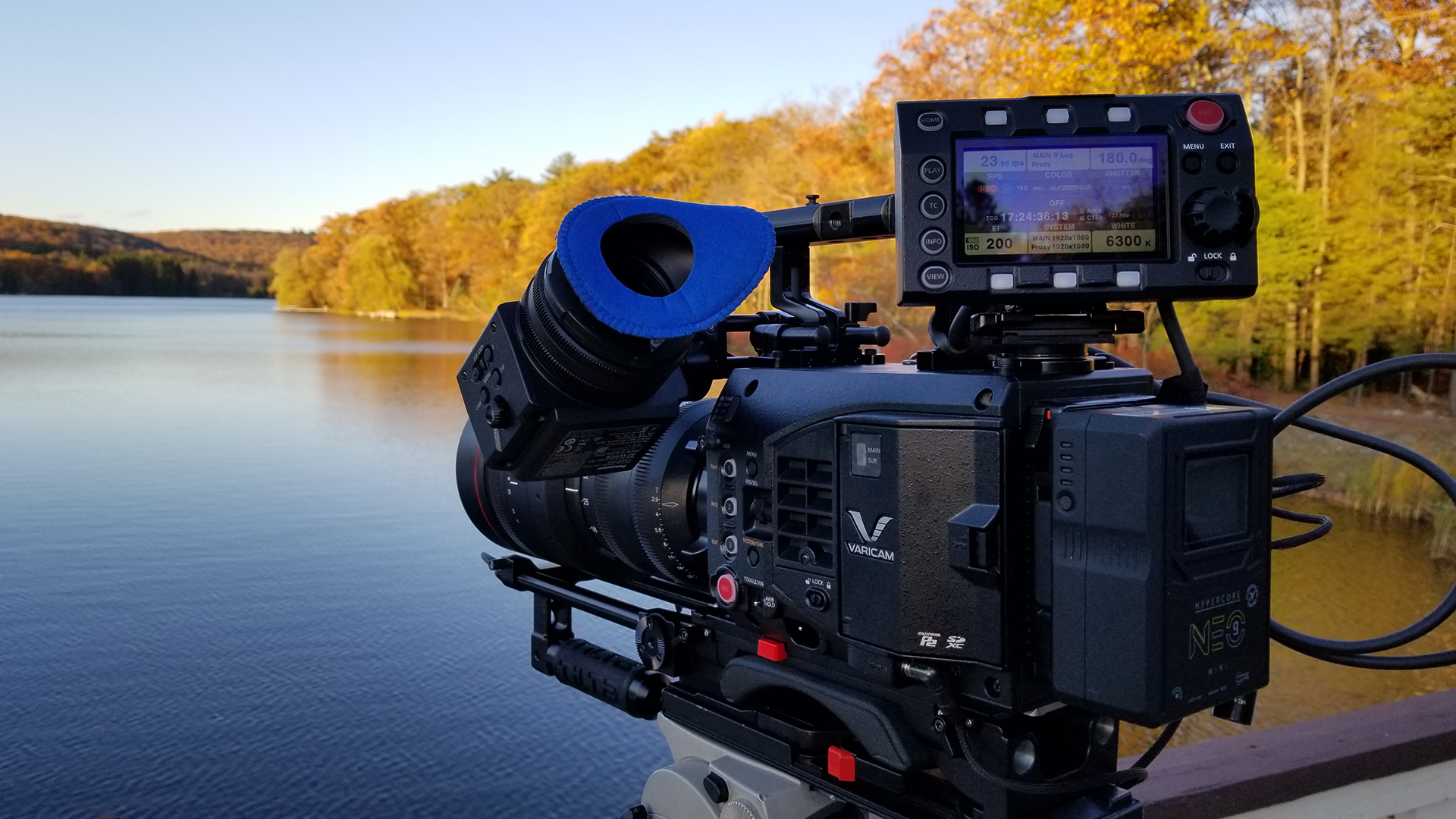 Panasonic Varicam LT with RED Pro 18 x 85 in action