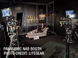 Panasonic test scene at NAB