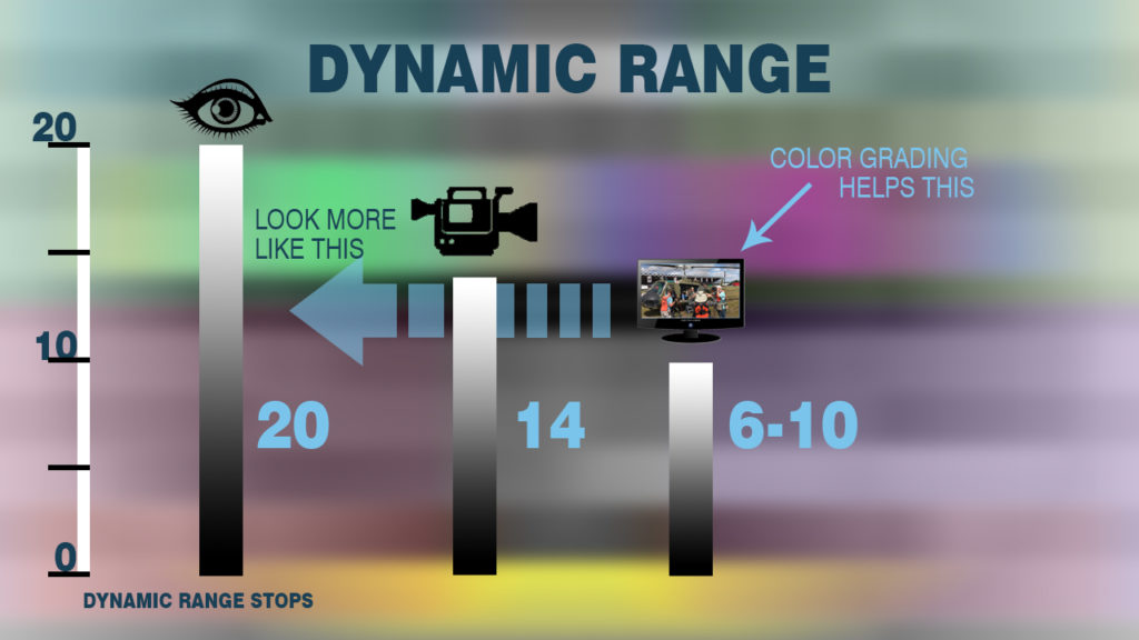 Chart to help explain visual dynamic range