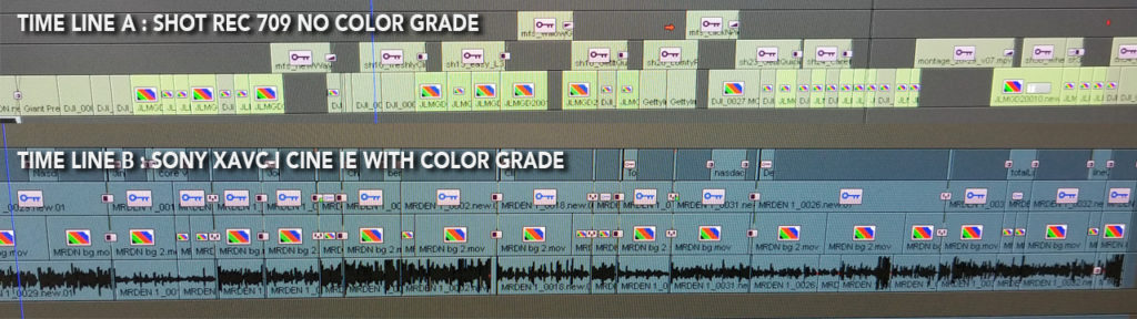 image showing timelines from our editing program